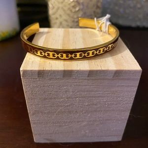Tori Burch adjustable one size cuff link bracelet